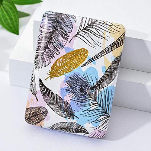 Bmstjk Mode Kreative Mädchen Kosmetikspiegel, Blätter Falten Tragbare Einstecktuch Nette Quadratische Form Handspiegel, Für Home Office Makeup6X8Cm