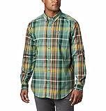 Columbia Rapid Rivers II Long Sleeve Shirt Camisa Abotonada, Tomillo Verde Grande Plaid, XXL para Hombre