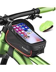 """Regalo Hombre Bolsas de Bicicleta, Accesorios Bicicleta Impermeable del teléfono de la Bici de la Pantalla táctil de la manija de la Bicicleta para Debajo DE 6.5""""teléfono dia del padre regalos mujeres"""