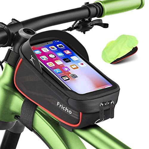 Borsa Bici Regalo Uomo con Supporto per Telefono, Borse Bici regalo festa del papà Impermeabili per Telaio Borsa da Bicicletta per Smartphone Sotto i 6.5 '' regalo pasqua regali per le donne