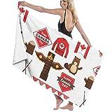 AEMAPE Nacionales Funny Toalla de Microfibra de baño de 32 x 52 Pulgadas - Toallas de Playa para Hombres, Mujeres, baño, Toallas