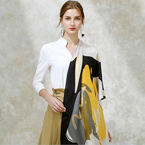 YQQ-écharpe Femme Matériaux De Haute Qualité Impression Léger Et Mince Châle 60 * 190cm (Couleur : C)