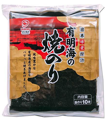 有明海の焼のり 金 10枚×10袋パック