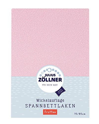 Julius Zöllner 8390449760 Spanntuch für die Wickelauflage, 75 x 85 cm, Frottee, rosa
