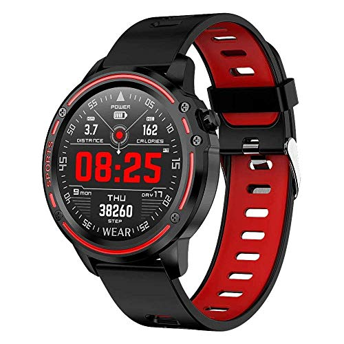 Reloj inteligente Full HD resistente al agua IP68 con Bluetooth, podómetro y pulsómetro, compatible con Android e iOS