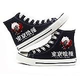 jiushice Tokyo Ghoulanime - Zapatos de lona unisex para adulto, con cordones, botines informales, zapatos deportivos para gimnasio, color, talla 36 EU