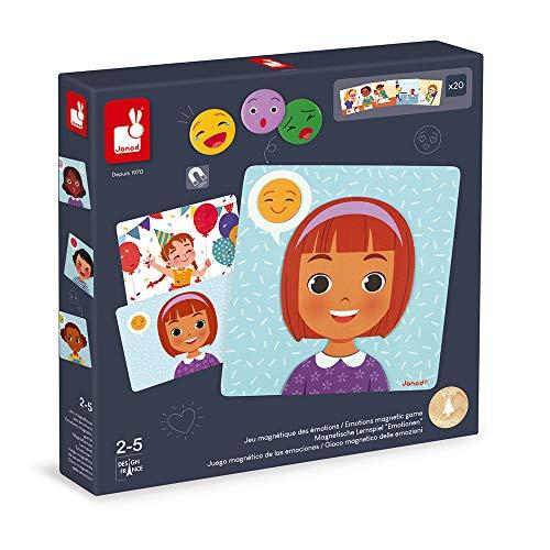 J08038 Juego magnético de las emociones - Juego educativo para niños pequeños - A partir de 2años