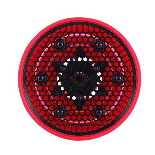 Opvouwbaar van kapperssilicone voor krullend haar, haardroger, diffuser, rood