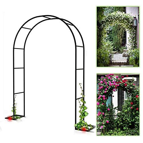 SYLJ Gran Arco De Metal para Jardín, Arco para Enredaderas,Arco de Rosas Enrejado arqueado, Decoración De Ceremonia De Fiesta De Arco De Boda, Pérgola, Arco para trepadoras