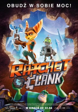 Ratchet and Clank – Polish Movie Wall Poster Print - 43cm x 61cm / 17 Inches x 24 Inches A2
