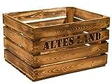 geflammte Massive Obstkiste ALTES Land 49 x 42 x 31cm / Apfelkiste/Weinkiste aus dem Alten Land