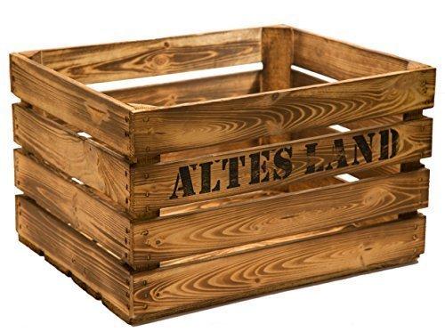3er Set Massive Obstkiste Apfelkiste Weinkiste aus Dem Alten Land +++ 49 x 42 x 31 cm (GEFLAMMT MIT Aufschrift Altes Land)