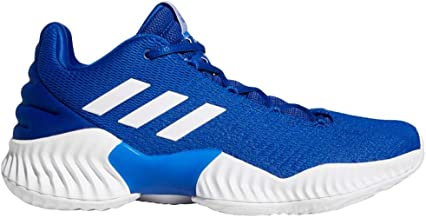 adidas Men's Pro Bounce 2018 Low Basketball CollegiateRoyal/White/CollegRoyal