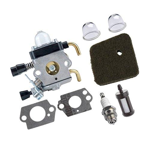 Repuesto de carburador para cortacésped Hs81 Hs81r cortacésped, incluye carburador, junta + filtro de aire + reparación de bujías