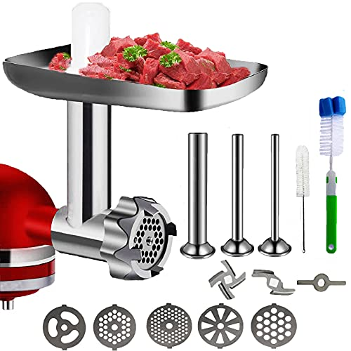 Metal Food Grinder Attachment for KitchenAid Stand Mixers, Meat...