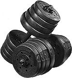 MOVTOTOP Juego de mancuernas ajustables – 15 kg/20 kg/30 kg Free Weights Juego de pesas con barras de conexión para mujeres y hombres en casa Fitness