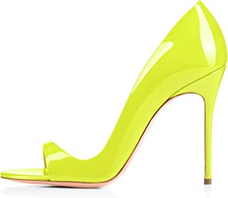 Women's Fashion D'Orsay Peep Toe PU High Heel Spring Summer Sandals for Party Working Wedding