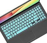 Leze - Tastaturabdeckung kompatibel mit 15,6 Zoll ASUS VivoBook S15 S530UA S530UN S512, VivoBook F512 F512DA F512FA F512JA, X512 X509 X509FA Laptop - Mint