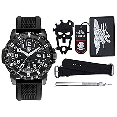 YIDULA Outdoor Military Survival Gear Sports Waterproof Watch for Men Women ,Army Paracord Bracelets Hiking Camping Watches ,Wrist Compass ,Whistle ,Fire Starter , Adjustable Glows