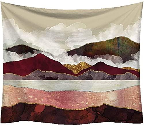 RENYC Tapices Decorativos Tapestry Mountain Tapestry Wall Hang - Tapiz Forest para Dormitorio, Decoración del Dormitorio - Color Mountain Wall Tapicería Tapiz Mantel Cubierta de sofá