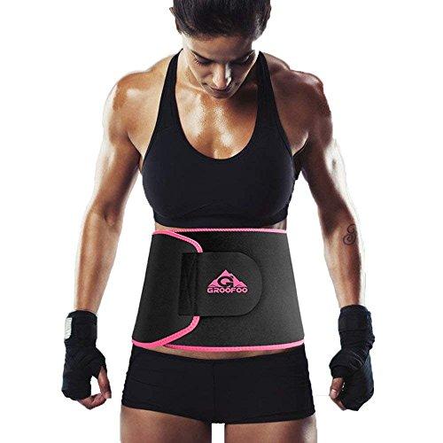 GROOFOO シェイプアップベルト 腰サポーター ダイエット 発汗促進 サウナベルト 腹 引き締めり 腰痛 腰椎固...