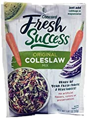 Concord Foods Coleslaw Mix 1.87oz Packet Pack of 6