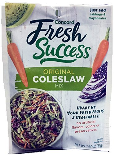 Concord Foods, Coleslaw Mix, 1.87oz Packet (Pack of 6)