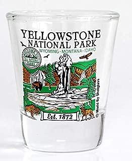 Yellowstone Wyoming Montana Idaho National Park Series Collection Shot Glass