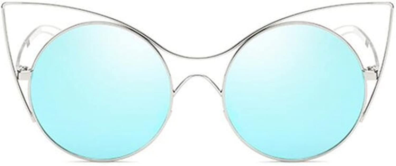 Sucastle Sucastle Sucastle Katzenaugen Sonnenbrillen Persönlichkeit Trend runder Kasten Sonnenbrille wild Sonnenbrille Metall PC QWERT B071ZFLD6S  Neuer Markt 65dfca