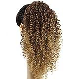 Morningsilkwig Chocolate Pelucas 120g Afro Drawstring Ponytail 35CM Afro Kinky Curly Cabellos Afroamericano Saciés corto Envoltura Synthetic extensiones de pelo