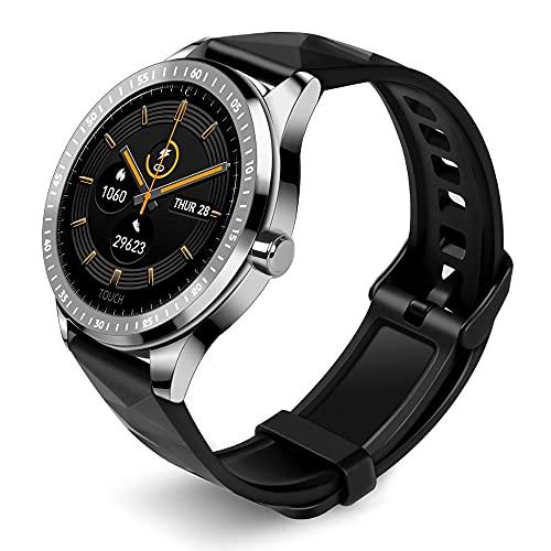 Hombres de Negocios Bluetooth Llamada Mensaje Recordatorio Smart Watch Largo Standby SmartWatch Mujeres Deporte Relojes (Color : White)