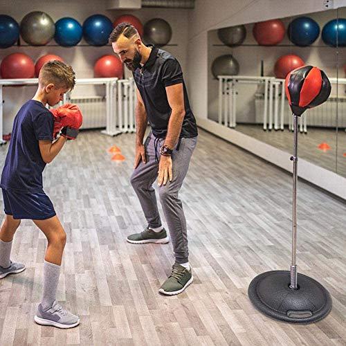 Bokszak Box Set, verstelbare box tas, kinderen bokshandschoenen en boksbal, kinderen van 4-10 jaar, in hoogte verstelbaar 30-43 inches