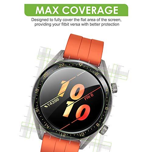 apiker [4 Stück] Schutzfolie für Huawei Watch GT Classic und GT Active, Huawei Watch gt Ative Panzerglas mit 9H-Härte, Kratzfest, blasenfrei, hohe Definition, hohe Empfindlichkeit - 6
