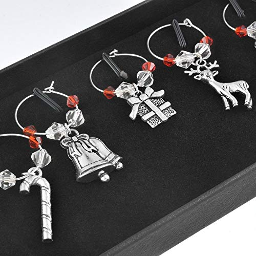 weichuang Pieces of Mixed Christmas Strap Enamel Pendant Ornaments Christmas Tree Decoration Bracelet Earring Necklace DIY Jewelry hot (Color : 1)