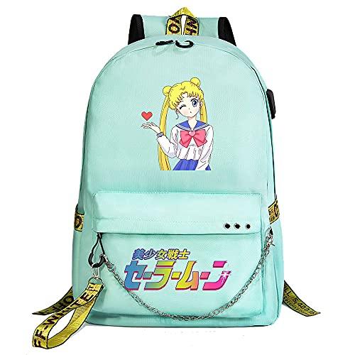 SHU-B Damen Handtasche Schultertasche Casual Multifunktionale Umhängetaschen Strandtasche Groß für Arbeit Schule Shopper Beach Sailor Moon