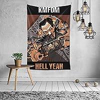 タペストリー KMFDM 人気の 壁掛け布 部屋 寮 ホームステイ窓 壁 装飾用品 多機能 ブランケットカーテン ビーチタオル インテリア,(60x40inch/150x100cm)