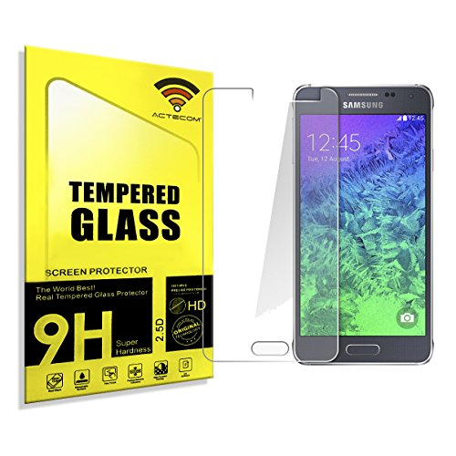 actecom® Protector Pantalla Compatible para Samsung Galaxy A3 2015 Cristal Vidrio Templado