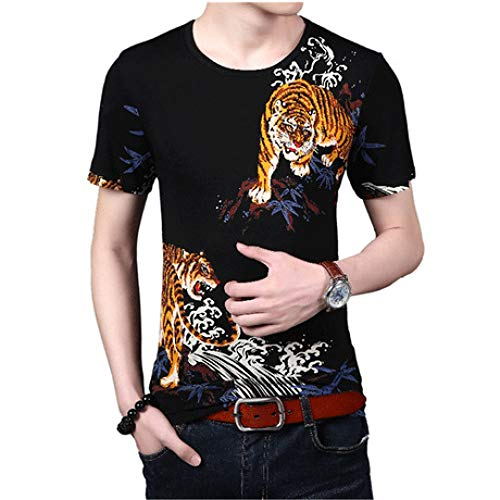 Camisa de compresión para Hombre Patrón de Tigre Estampado Camiseta