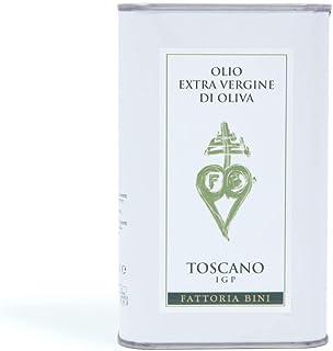 Fattoria Bini   Medium IGP Toscano Extra Virgin Olive Oil   2019 Harvest Italian Olive Oil from Italy, Tuscany, Family Est...