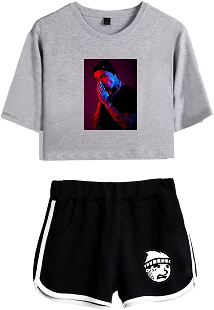 Tydres Gera MX 2 Piece Sets Hip Hop Short Sleeve Suit Womens Girl Set Casual Accessories Fashion Suit (GB-YM00723,XL)