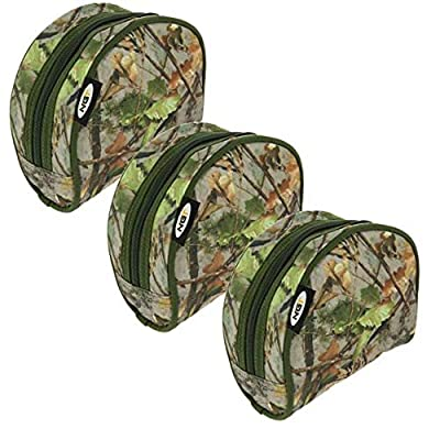 NGT 3 X Camo Fishing Reel Cases For Carp Coarse Fishing Reels