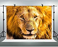 ZPC漫画ライオンキングヘッド写真背景7X5FTアフリカ大草原ジャングルサファリ野生動物テーマ誕生日パーティー写真背景スタジオ写真ブース小道具GEEV504