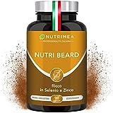 Crescita Barba Uomo Plus | Zinco Vitamina D3 B12 B6 B2 MSM | Stimola la Crescita della Barba | Barba Più Forte | Uomo