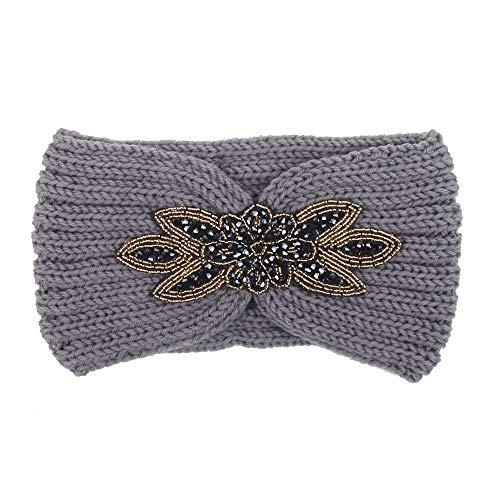 Dames Hoofdbanden Haarbanden Breien Hoofdbanden Winter Vrouwen Bohemen Pailletten Haaraccessoires Handgemaakte Haarbanden C