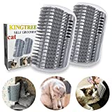 Kingtree Cat Self Groomer, 2 Pack Cats Corner Groomers Soft Wall Corner Massage Combs Grooming Brush Perfect Massager Tool for Long Short Fur Cat Puppy - Grey