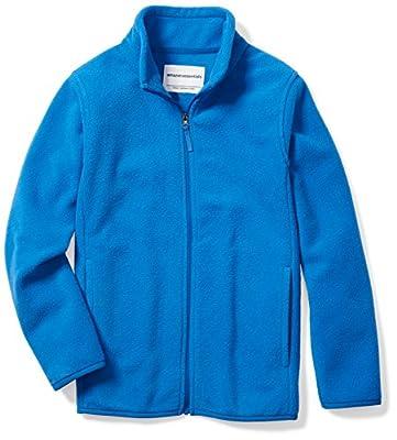 Amazon Essentials Kids Boys Polar Fleece Full-Zip Jackets, Blue, Medium