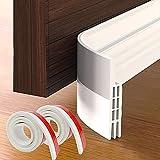 Grotheory 2 Pack Door Draft Stopper, Under Door Draft Blocker, Soundproof Door Sweep Weather Stripping for Doors, 2' W x 39' L, White