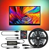 MAQRLT TV LED Retroilluminazione, TV Fai da Te, PC Dream Screen TV Retroilluminazione RGB Strip Light, Kit di Illuminazione di bias TV Non Impermeabile con Telecomando,4m