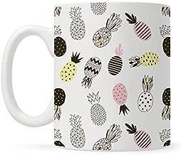 Retro Hipster Pineapple Coffee Mug, Fun Mugs for Women Mom Daughter Sister Friend Work, Cool Unique Cute Mugs