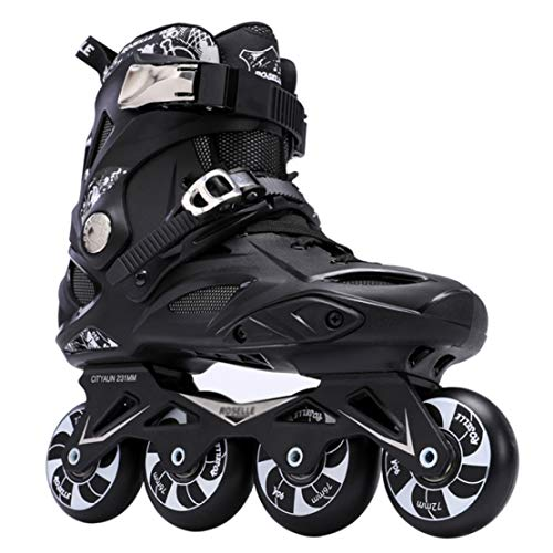 %17 OFF! JLDNC Inline Skates, High Elasticity Roller Skates with PU Wheel Wear Resistance Rollerskat...